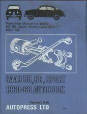 SAAB 2-STROKE 95 96 SPORT & MONTE CARLO 1960-1968 OWNERS WORKSHOP MANUAL * VGC *