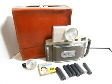 Vintage Polaroid 850 Electric Eye Land Camera w/ Case Film Tubes Flash Bulbs