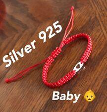 For Baby 👶 Heart Bracelet Silver 925  Red Thread Protection Evil Eye Handmade
