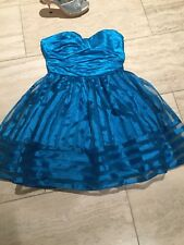 Betsey Johnson Teal Blue Puffy Cupcake Party Dress prom wedding
