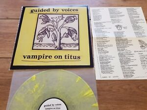 "GUIDED BY VOICES ""VAMPIRE ON TITUS"" LP CLEAR / YELLOW SPLATTER LIMITED + INSERT"