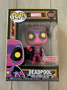 Funko POP! Marvel: Black Light Deadpool #801 Target Exclu. SOLD OUT'!!!