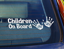 Static Cling Window Car Sign/Decal Children On Board 2 Little Hands