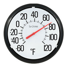 104-134 La Crosse 13.25 Round Indoor/Outdoor Analog Dial Thermometer