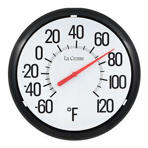 104-134 La Crosse 13.25 Round Indoor/Outdoor Analog Dial Thermometer
