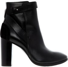 COSTUME NATIONAL Leather Heeled Ankle Boots - Black - £460