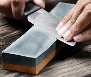 Dekton Knife Sharpener Stone - Double Sided Fine / Coarse Sharpening Kitchen *