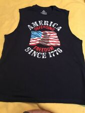 American Muscle Size Large Patriotic Muscle Shirt