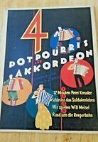 4 Potpourris für Akkordeon ,12 Minuten Peter Kreuder,Schön ist das Soldatenleben