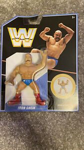 Wwe Retro iron sheik Figure MOC new Hasbro Mattel wrestling