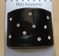 A Black Diamanté Studded Curved Diamond Pony Tail Band/Hair Bobble