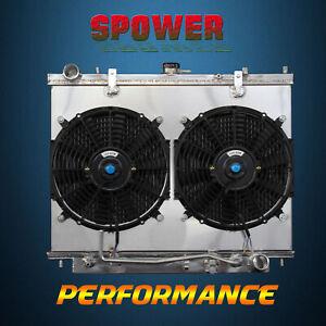 Aluminum Radiator + Fan Shroud For Honda Passport EX LX 98-02 Isuzu Rodeo 98-03