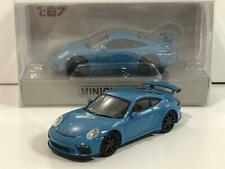 Minichamps 870067324 Porsche 911 GT3 2017 Blue 1:87 Scale