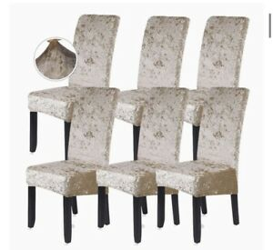 x6 Velvet 45-60cm Dining Chair Cover Spandex Wedding Banquet Chair Slipcover