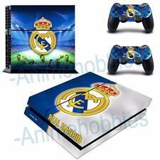 Real Madrid CF Football Vinyl Skin Decals Stickers for PS4 Console 2 Controllers
