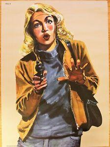 Vintage Police Law Enforcement shooting target practice poster salvage hunters