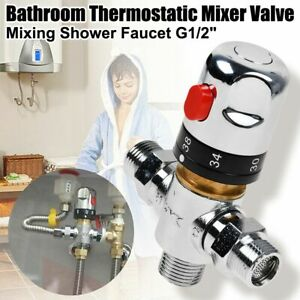 Thermostatic Mixing Blending Valve Hot Cold Water Regulator Temperature Control