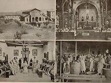 1899 STAMPA SUD AFRICA COLONIALE il Monastero Trappista mariannhill Natal