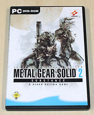 Metal Gear Solid 2-substance-PC juego-DVD funda con manual