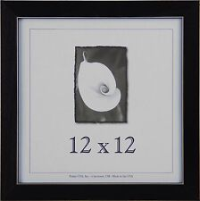 12x12 Clean Cut Wood Picture Frame w/Real Glass - Available in 4 Colors!