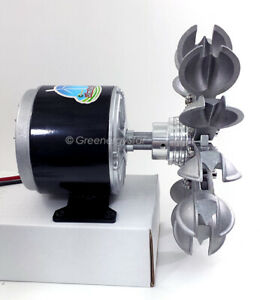12-24V WindZilla PMA Pelton Water Wheel Adapter Micro Hydro Generator Turbine B