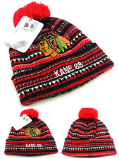 Chicago Blackhawks New Adidas Toque Patrick Kane 88 Red Black Era Beanie Hat Cap