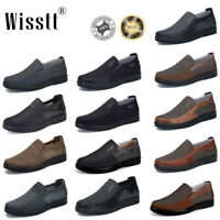 Men Driving Shoes Leather Moccasins Work Slip on Outdoor Splicing Loafers Sports