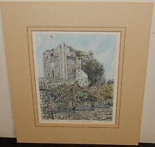 "PHILIP MARTIN ""THE CASTLE PRINT GUILDFORD"" LIMITED EDITION COLOR LITHOGRAPH"