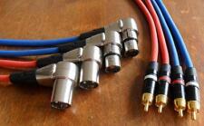 4x4 mètres xlr rca-Câble pour revox pr99 studer a67 b67 professionnel qualité-NEUF -