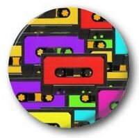 TAPES - 1 inch / 25mm Button Badge - Cassette Retro Cute Novelty