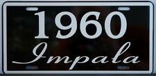 1960 60 IMPALA LICENSE PLATE 283 348 CONVERTIBLE CHEVY CHEVROLET LOW RIDER FINS