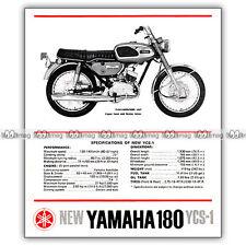 PUB YAMAHA 180 YCS-1 (YCS1) - Original Advert / Publicité Moto de 1969 #2
