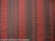 Window in a Bag Curtain 5PC Set Metro Stripe Burgundy #7090 Creative Linens