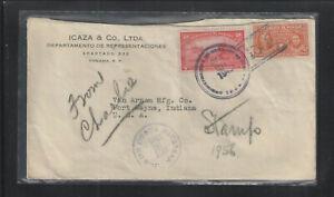 1945 PANAMA ADVERTISING COVER w/ Scott # 344 + RA3 + COSTA RICA CANCEL