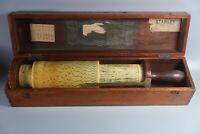 LARGE RARE Antique Stanley Fuller SPIRAL Calculator CYLINDRICAL SLIDE RULE