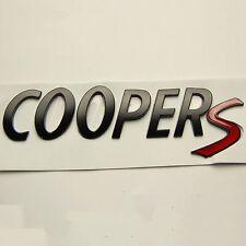 3D Matte Black Rear Trunk Badge emblem Letters COOPERS Sticker For MINI Cooper