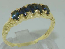 Sapphire Eternity Yellow Gold Fine Rings