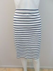COUNTRY ROAD BLUE/WHITE PULL ON SKIRT SIZE MEDIUM=10/12     (#M1201)