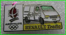 Pin's Jo Jeux Olympique Albertville 92 RENAULT Voiture Renault Trafic  #1353