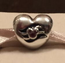NIB Pandora Disney Cruise Line Exclusive DLC Silver Heart Bead Charm