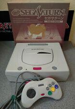 Japanese White Sega Saturn Mk2 Boxed Region Free with Controller - 240v PSU