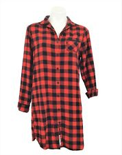 Target Flannel Nightgown Size Small Red Black