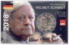 2 Euro Coincard / Infokarte Deutschland 2018 Helmut Schmidt