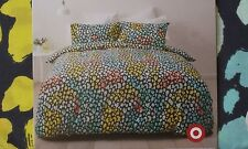 "QUEEN  "" CHARISMA "" QUILT COVER SET. NEW IN FABRIC BAG. COLOURFUL SPOT PRINT"