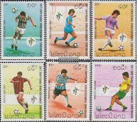 Laos 1182-1187 (kompl.Ausg.) postfrisch 1990 Fußball-WM 1990 in Italien