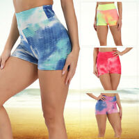 Women High Waist Yoga Shorts Gym Push Up Sports Hot Pants Fitness Anti-Cellulite