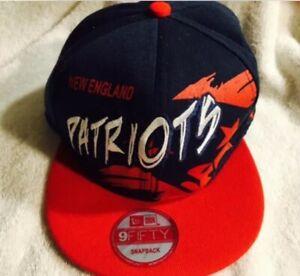New Era Patriots Snapback 9Fifty Cap Hat Rare Artistic Design NEW In Factory Bag
