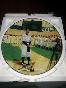 Legends of Baseball collectors plate Delphi Lou Gehrig Luckiest man Yankees HOF