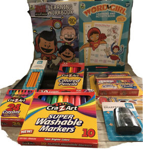 Remote school learning 4+ workbooks 12pcs *crayons,washable markers,chalks,