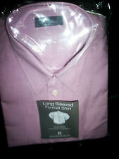 Shirt (Essentials) 18.5 collar,  Lavender small/fine striped line,  long sleaves